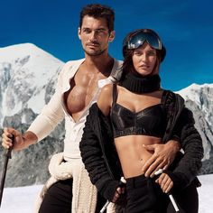 Bianca Balti and David Gandy star in this new episode launching from the top of the run; they crisscross in the snow of Monte Bianco, their paths interweaving and merging on the slopes. A game of seduction that ends, as it should, with a kiss.  #DGLightbluewinter #DGLightblue #DGBeauty