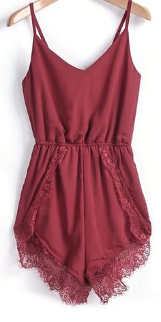 Love this burgundy #romper