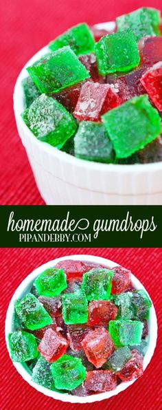 Homemade Gumdrops - I love these! They taste just like the old-fashioned spiced candy that I ate as a kid.