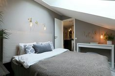 Attic Loft, Loft Room, Bedroom Loft, Home Bedroom, Bedroom Decor, Garage Attic, Bedroom Ideas, Rooms With Slanted Ceilings, Gravity Home