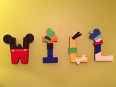 I made these for decorations at his Mickey Mouse Clubhouse birthday party, but also for his room!