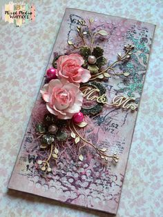 Pink card for wedding - OBiels02 by Mixed Media Warriors tutorial