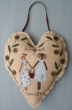 House on the Hill Design Company produces a range of 'French/Italian Country' Folk Art. All items are hand painted and finished in earthy country colours. Sewing Art, Sewing Crafts, Sewing Projects, Crewel Embroidery, Valentine Crafts, Valentines, Patchwork Heart, Fabric Hearts, I Love Heart