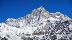The West Face of Mount Makalu,  the fifth highest mountain in the world at 8,485 meters, located in the Mahalangur Himalayas 19 km southeast of Mount Everest, on the border between Nepal and China.