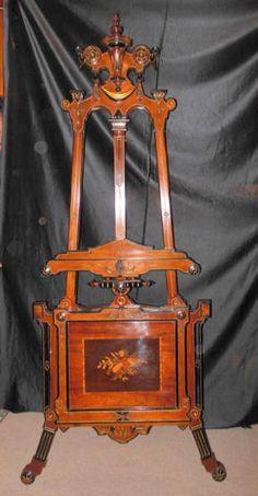 Victorian Renn Revival Easel by Kilian Bros