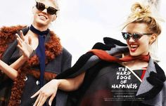 Devon Windsor & Natalia Siodmiak star in The Hard Edge Of Happiness captured by fashion photographer Katja Rahlwes for Vogue Japan's January Vogue Japan, Graham, Devon Windsor, Royal Engagement, Models, Kawaii Girl, Who What Wear, Chic, Editorial Photography