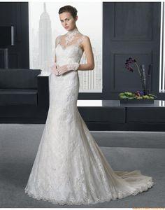 2015 Schicke Aparte Tolle Brautkleider aus Softnetz mit Applikation