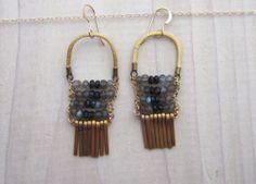 Floating World Earrings by GracelandJewelry on Etsy, $75.00