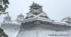 【激レア!雪の熊本城 他】 もう二度と見られないかもしれない九州の雪景色 9選