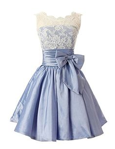 Sunvary White and Lavender Lace Cocktail Homecoming Dresses for Juniors Mini Bridesmaid Gowns Sweety 16 Pageant Prom Dresses US Size 16- White and Lavender Sunvary http://www.amazon.com/dp/B00GWETO82/ref=cm_sw_r_pi_dp_oQoCub0TW1R8P