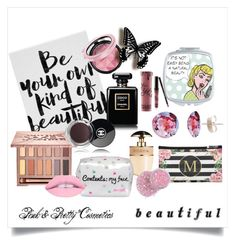 """""""Pink Pretties"""" by impound-skirmish ❤ liked on Polyvore featuring beauty, Kylie Cosmetics, Urban Decay, Chanel, Prada and Lipsy"""