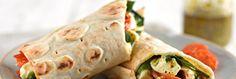 Mozzarella, Pesto and Oven-Roast Tomato Hot Wrap | Newburn Bakehouse by Warburtons