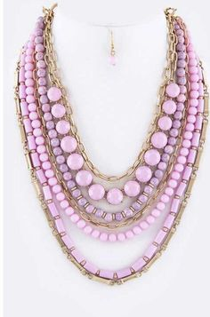 Mix Layered Convertible Necklace Set