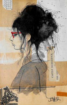 "Saatchi Art Artist: Loui Jover; 2014 ""hipster she"""