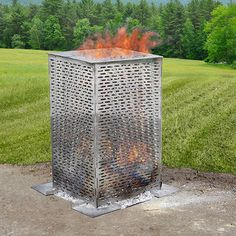 BurnCage (Original) Burn at up to 1600 degrees F and forget about that rusty old burn barrel. Thoroughly incinerate unwanted leaves, branches, financial documents and more with the stainless steel BurnCage™. #drpower #burncage