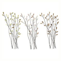 Lovely Branches Metal Wall Art