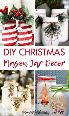 Easy holiday decorating ideas to create a cheery,… DIY Christmas mason jar decor. Easy holiday decorating ideas to create a cheery, festive home! Diy Christmas Decorations For Home, Diy Christmas Lights, Christmas Jars, Holiday Decorating, Decorating Ideas, Diy Christmas Projects, Diy Christmas Crafts, Christmas Crafts For Gifts For Adults, Christmas Time