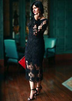 Черное платье крючком. Crochet Black dress  #Asos #crochet_dress