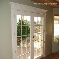 Back door , door casing but can the door be opened to the exterior?