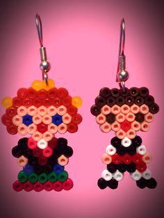 Pendientes Hama Beads
