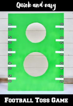 DIY football toss ga