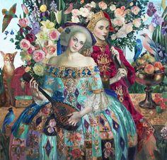 Spring, Olga Suvorova Formaat: 120 x 115 cm