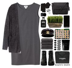 """Rainy Days"" by igedesubawa ❤ liked on Polyvore featuring Monki, H&M, The WhitePepper, DKNY, Chanel, Cleanse by Lauren Napier, Christy, Givenchy and D.L. & Co."