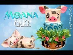 MOANA CAKE COLLAB. WITH 'DELICIOUS SPARKLY CAKES!' - Cake by Miss Trendy Treats - CakesDecor