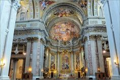 Image Detail for - Pics of Rome, Italy. Famous painting in the ceiling of Gesu Church ...