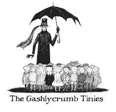 The cover of Gorey's most famous work, The Gashlycrumb Tinies.