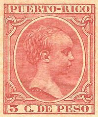 3 cents stamp from Puerto Rico during the Spanish reign. | List of people on stamps of Puerto Rico - Wikipedia, the free ...