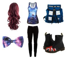 dr who by whiterose0211 on Polyvore featuring polyvore, fashion, style, Joie and Dr. Martens