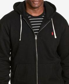 Polo Ralph Lauren Men's Big and Tall Classic Fleece Full Zip Hoodie - Black 4XB