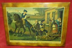 Minute Men of The Revolution Old Calendar Picture Wall Hanging Folk Art Deco