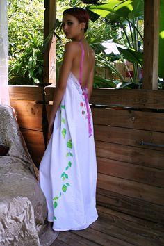 Lencería de Novia de princesa flor mano de camisón de algodón
