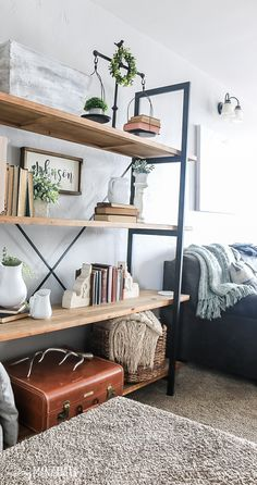 How To Decorate Shelves Decorating shelves doesn't have to be so overwhelming. With these tips on how to decorate shelves, you'll be styling shelves like a pro in no time! Living Room Shelves, My Living Room, Living Room Decor, Shelf Ideas For Living Room, Living Spaces, Home Design, Interior Design, Design Ideas, Interior Ideas