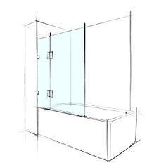 Custom Frameless Shower Screen - for baths.