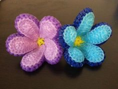 Rainbow Loom Forget-Me-Not Flower Tutorial - YouTube