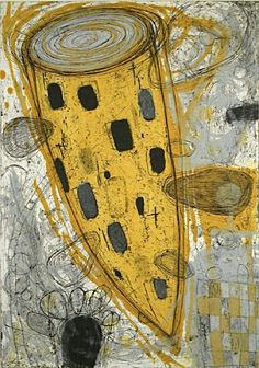 'Urban Fantasy' by Japanese-Canadian artist Akiko Taniguchi Collagraph. via Davidson Galleries Abstract Drawings, Art Drawings, Abstract Art, Collages, Davidson Galleries, Collagraph, Intaglio Printmaking, Culture Art, Print Artist