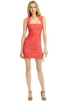 Rent Coral Fair Lady Dress by Nicole Miller for $60 only at Rent the Runway.