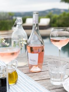 Languedoc rosé wine is perfect for summer outdoor entertaining. The Château Ribaute from the Corbières region of France was one of my favorites on the table. The rosé has a gorgeous apricot pink hue and a fresh and delicate flavor with notes of red berries.
