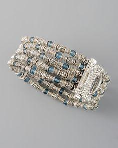 Konstantino London Blue Topaz Beaded Bracelet - Neiman Marcus