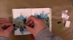 Art Journal Page - Playing with the Liquitex Muted Collection - YouTube