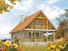 Takt to propozycja dla osób, które pragną cieszyć się urokami mieszkania we własnym domu. Może on pełnić funkcje domu rekreacyjnego oraz całorocznego. Pełna prezentacja projektu znajduje się na stronie: http://www.domywstylu.pl/projekt-domu-takt.php. #takt #domywstylu #mtmstyl  #projektygotowe #domyrekreacyjne #domyletniskowe