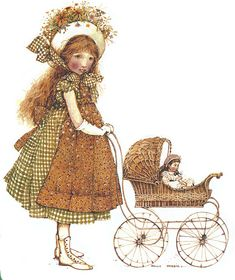 holly hobbie illustration with dolly in pram Sarah Kay, Holly Hobbie, Dibujos Cute, Dear Mom, American Greetings, Vintage Pictures, Clipart, Paper Dolls, Childhood Memories