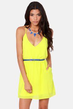 Bright Yellow dress :)