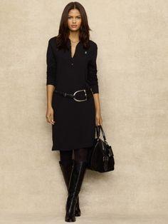 Pima Cotton Shirtdress - Blue Label Short Dresses - RalphLauren.com