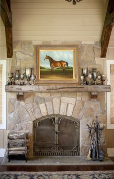 Electric Fireplace Mantels Family Room Traditional with Antique Trophies Family Room Fireplace Hearth Fireplace