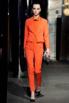 SACHIN + BABI NYFW F/W 2013... Orange #fashion