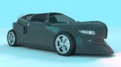3D Concept Car Side View